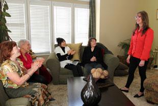 marketing-carpet-cleaning-at-ladies-meeting