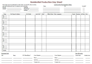 how to create a production day sheet strategies for success sfs