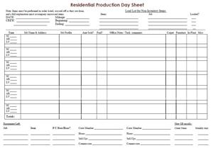 daily schedule sheet