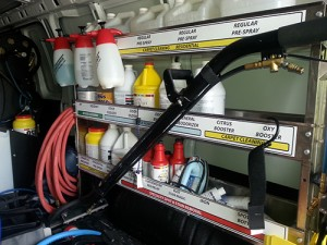 clean and organized trucks