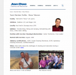 sample employee profile page
