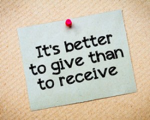 better give than receive reciprocity