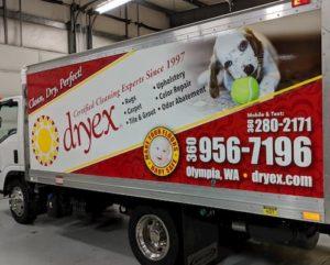 big restoration truck wrap