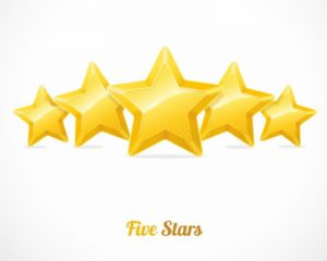 five star online reviews